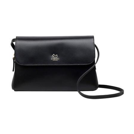 Millbank Medium Flapover Crossbody Bag Black