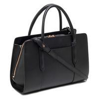 Liverpool Street Medium Zip Top Satchel Bag Black