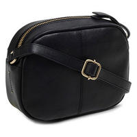 Greyfriars Gardens Small Zip Top Crossbody Bag Black