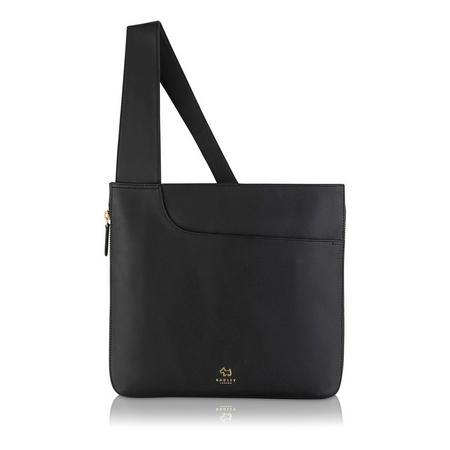 Pockets Large Zip Top Crossbody Bag Black