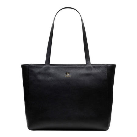 Greyfriars Gardens Large Zip Top Tote Bag Black