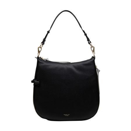Pudding Lane Large Zip Top Hobo Bag Black