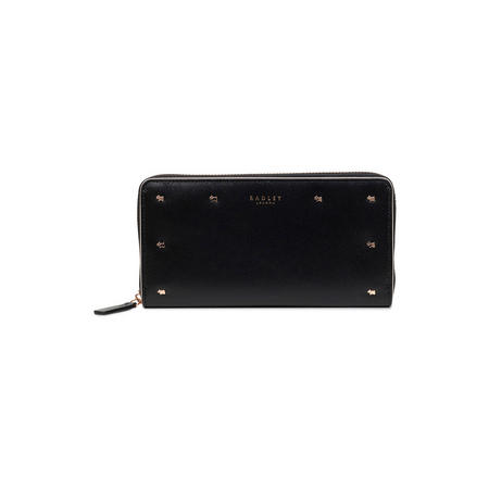 Arlington Street Large Zip Around Matinee Wallet Black