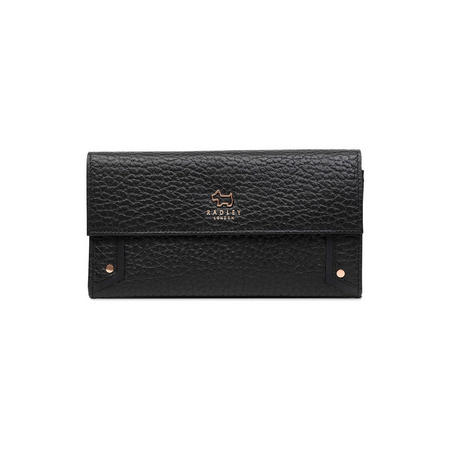 Carey Street Large Foldover Matinee Wallet Black