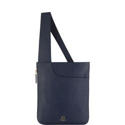 Pockets Medium Zip Top Crossbody Bag Navy