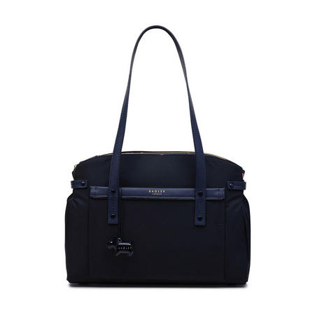 River Street Large Multi-Compartment Tote Bag Navy