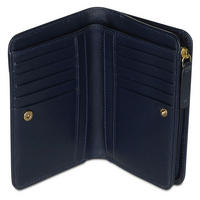 Pocket Medium Top Zip Wallet Blue
