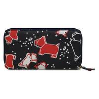 Speckle Dog Large Zip Around Matinee Wallet Blue