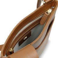 Pockets Medium Zip Top Crossbody Bag Brown