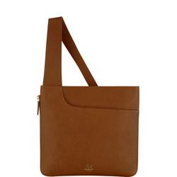 Pockets Large Zip Top Crossbody Bag Brown
