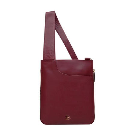 Pockets Medium Top Zip Crossbody Bag Red