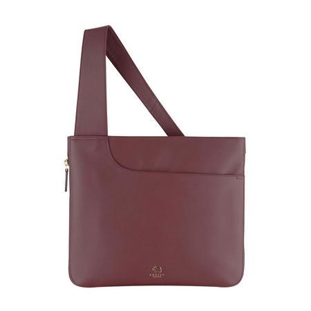 Pockets Large Top Zip Crossbody Bag Red