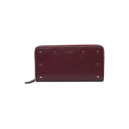 Arlington Street Large Zip Around Matinee Wallet Red