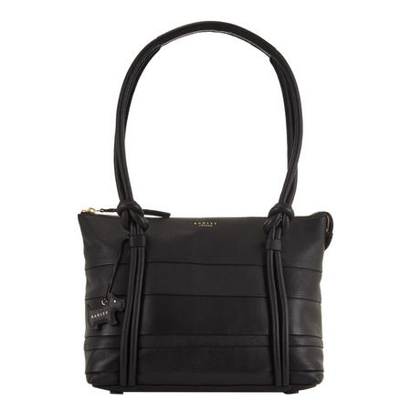 Wren Top Zip Tote Bag Black
