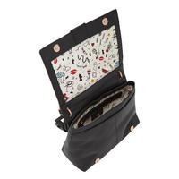 Linton Flap Shoulder Bag Black