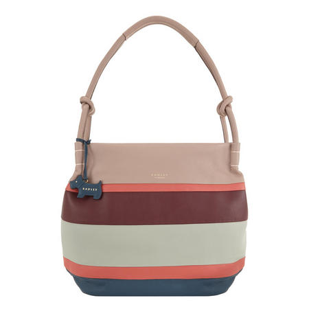 Wren Stripe Hobo Bag Pink