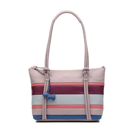 Wren Block Stripe Tote Bag Pink