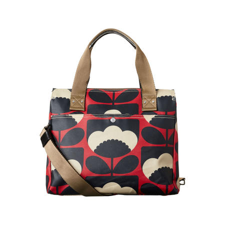 Spring Bloom Poppy Messenger Bag Red