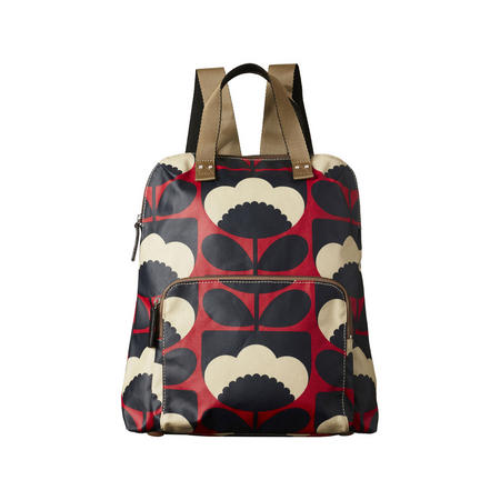 Spring Bloom Poppy Backpack Red