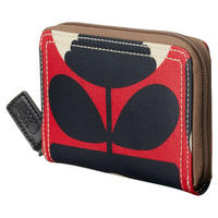 Spring Bloom Poppy Zip Around Wallet Red