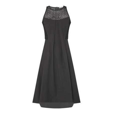 Lace Detail Dress Black