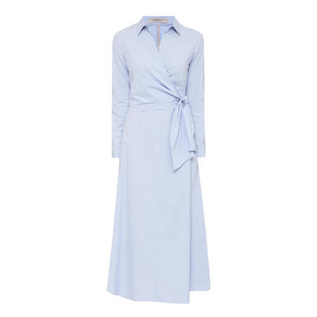 Occhio Wrap Dress Blue