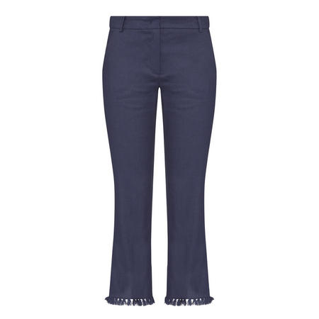 Grido Frayed Trousers Navy