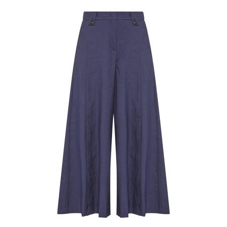 Esotico Linen Trousers Navy