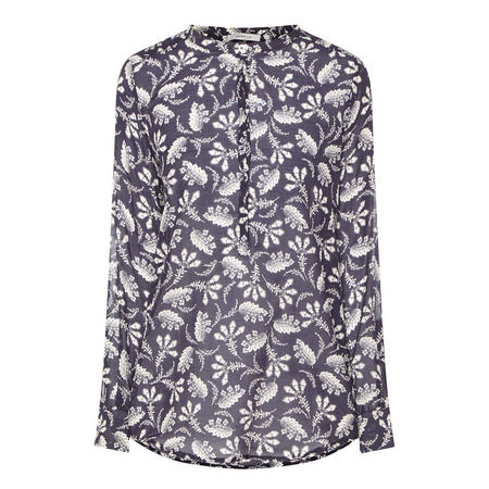 Nabarro Floral Print Top Navy