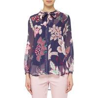 Floral Print Shirt Navy