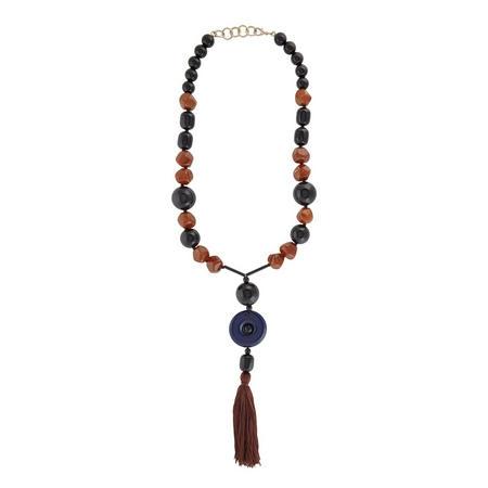Nappa Tassel Necklace Camel