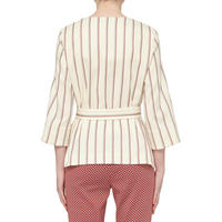 Salubre Pinstripe Jacket Cream