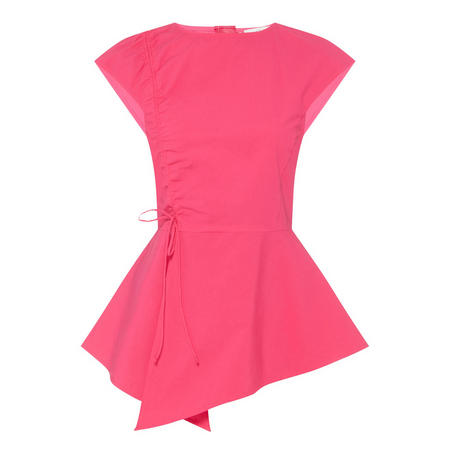 Asymmetrical Poplin Top Pink