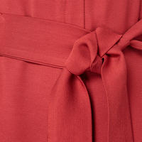 Dial Zip Dress Red
