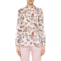 Nabarro Floral Print Top White