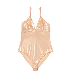 The Body Metallic Bodysuit Rose-Tone