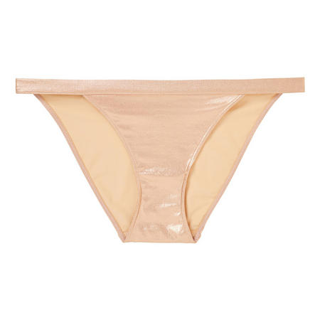 The Body Metallic Tanga Brief Rose-Tone