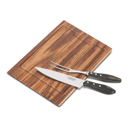 Carving Set Brown