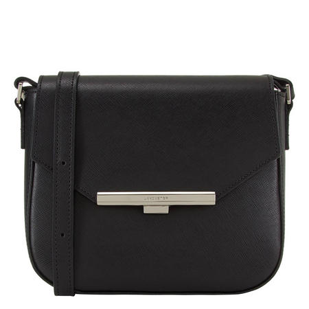 Adele Crossbody Saddle Bag Black