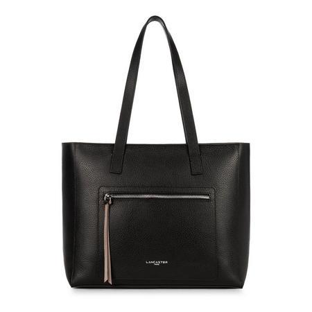 Foulonne Zip Pocket Tote Bag Black
