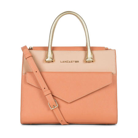 Adeline Small Envelope Satchel Bag Orange
