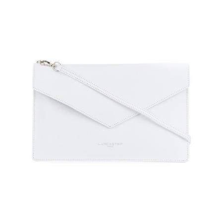 Pebbled Envelope Clutch Bag White