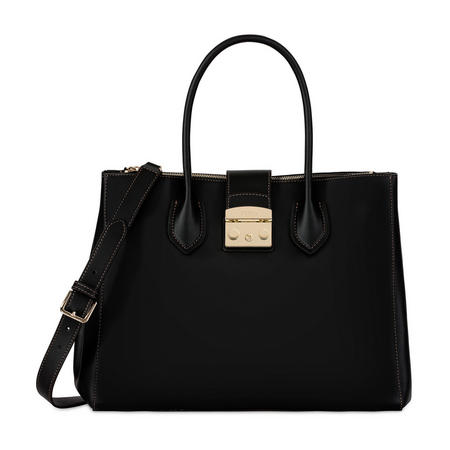 Metropolis Large Tote Bag Black