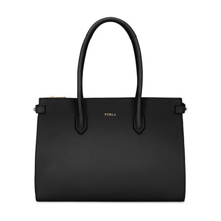 Pin Medium Tote Bag Black
