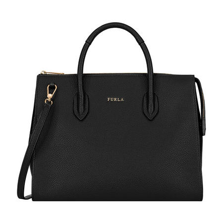 Pin Medium Satchel Bag Black