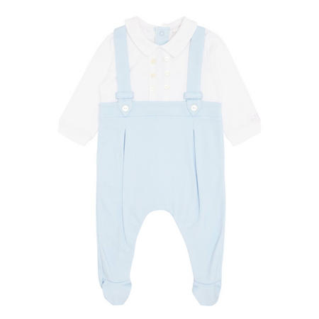 Martin Braces Romper Blue