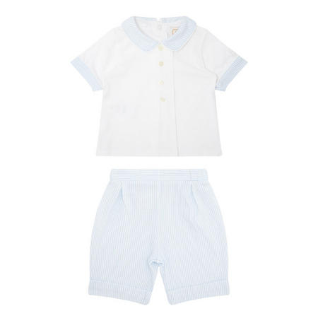 Babies Melvin Polo Two-Piece White
