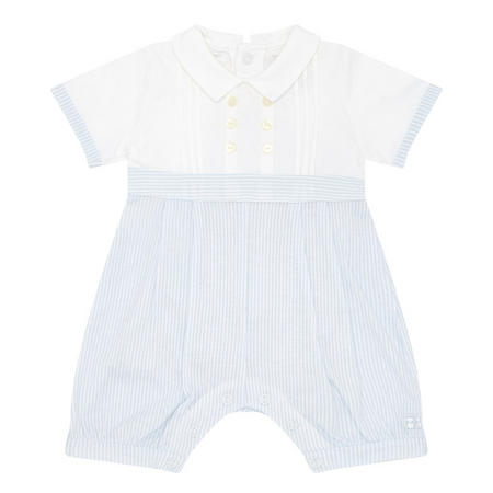 Babies Pinstripe All-In-One White