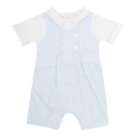 Baby Boys Maxwell Striped One Piece Blue