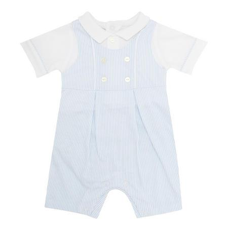 Baby Boys Maxwell Striped One Piece Blue